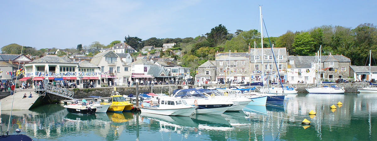 Padstow so close to Mevagissey in Cornwall