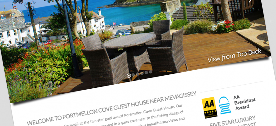 Portmellon Cove new website