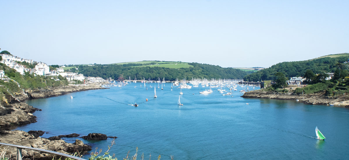 Fowey from Portmellon Cove Guest House in Cornwall