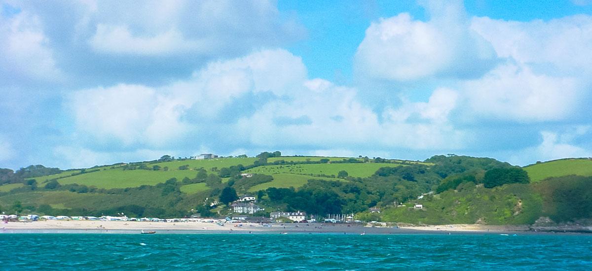 Pentewan Sands in Cornwall